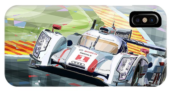 Car iPhone X Case - Audi R18 E-tron Quattro by Yuriy Shevchuk