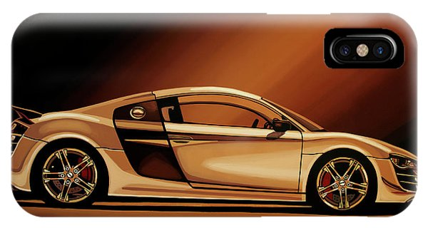 Elegant iPhone Case - Audi R8 2007 Painting by Paul Meijering
