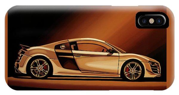 Estate iPhone Case - Audi R8 2007 Painting by Paul Meijering