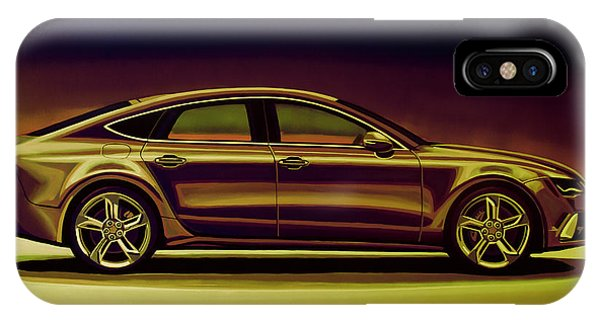 Vw iPhone Case - Audi Rs7 2013 Mixed Media by Paul Meijering