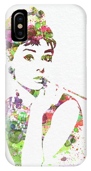 Movie iPhone Case - Audrey Hepburn 2 by Naxart Studio