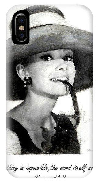 Audrey Hepburn 2 IPhone Case