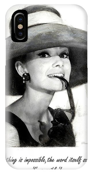 Audrey Hepburn 2 IPhone Case