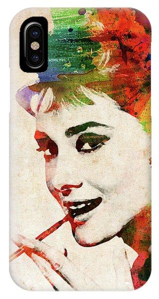Audrey Hepburn Colorful Portrait IPhone Case