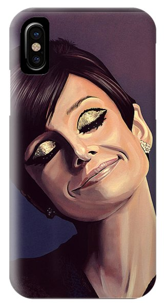 Audrey Hepburn Painting IPhone Case