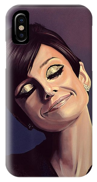 Movie iPhone Case - Audrey Hepburn Painting by Paul Meijering