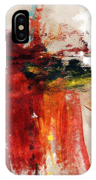 Texture iPhone Case - August Night- Abstract Art By Linda Woods by Linda Woods