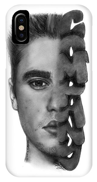 iPhone Case - Justin Bieber Drawing By Sofia Furniel by Jul V