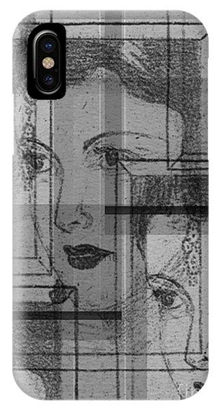 Aunt Edie Black And White Print IPhone Case