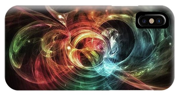 Aura Blaze #art #abstract #digitalart Phone Case by Michal Dunaj