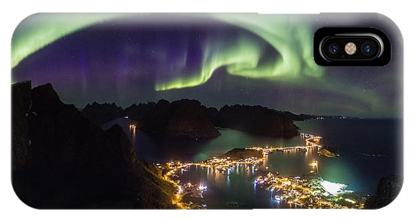 Aurora Above Reine IPhone Case