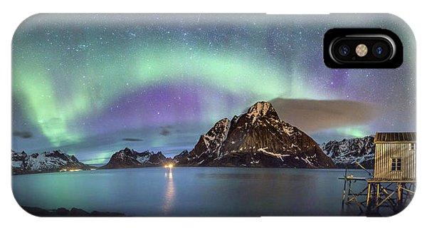 Aurora Above Reinefjord IPhone Case