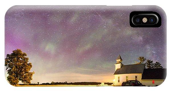 Aurora And Milky Way  Phone Case by Lorraine Matti