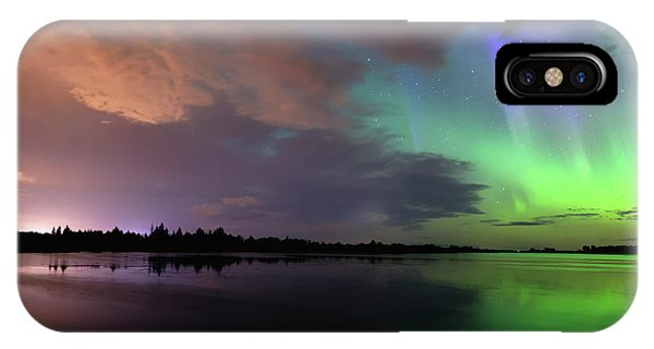 Aurora And Storm Clouds IPhone Case