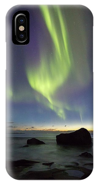 Aurora At Uttakleiv IPhone Case