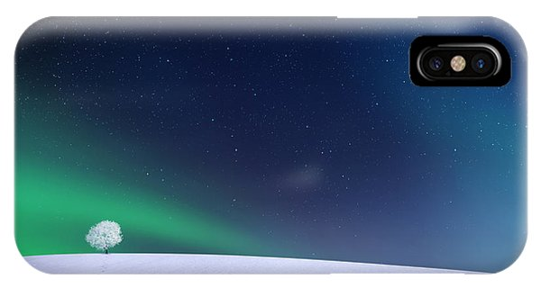 Winter iPhone Case - Aurora by Bess Hamiti