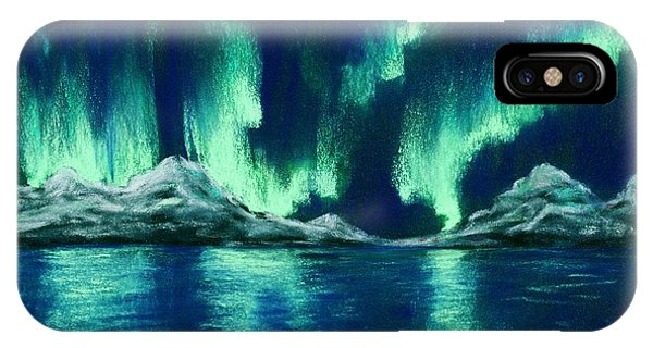 IPhone Case featuring the painting Aurora Borealis by Anastasiya Malakhova