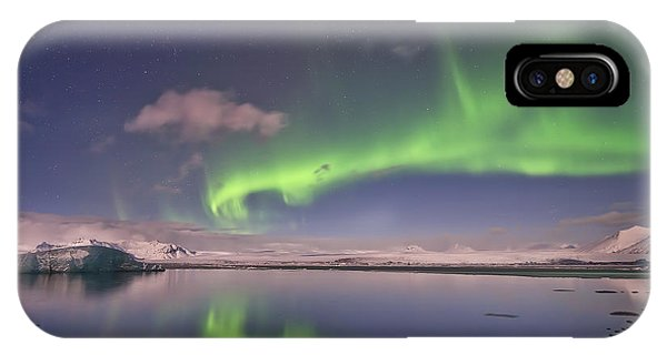 Aurora Borealis And Reflection #2 IPhone Case
