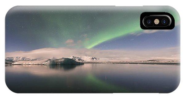 Aurora Borealis And Reflection IPhone Case