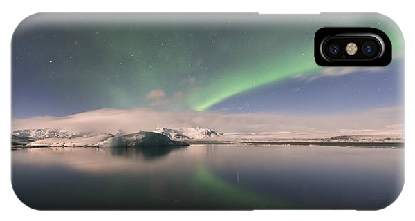 Aurora Borealis And Reflection IPhone Case