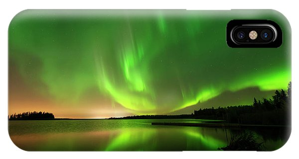 Aurora Borealis At Elk Island National Park IPhone Case