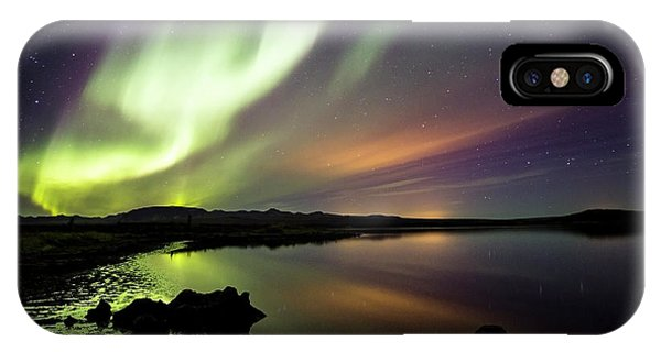 Aurora Borealis Over Thinvellir IPhone Case