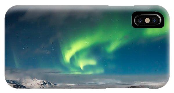 IPhone Case featuring the photograph Aurora Borealis by Susan Leonard