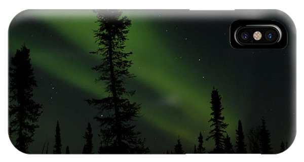 Aurora Borealis The Northern Lights Interior Alaska IPhone Case