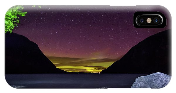 Aurora Over Lake Willoughby IPhone Case