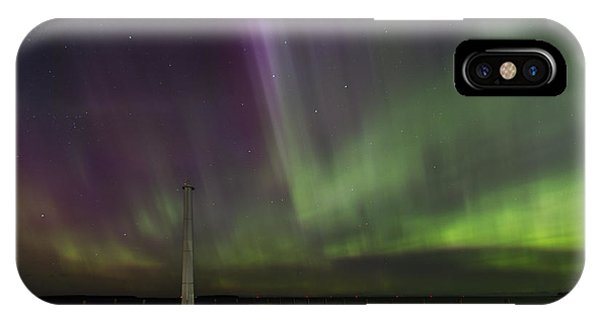 IPhone Case featuring the photograph Aurora Over The Harbor by Paul Schultz