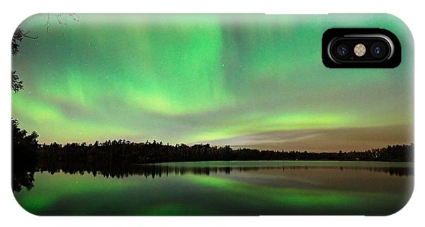 Aurora Over Tofte Lake IPhone Case