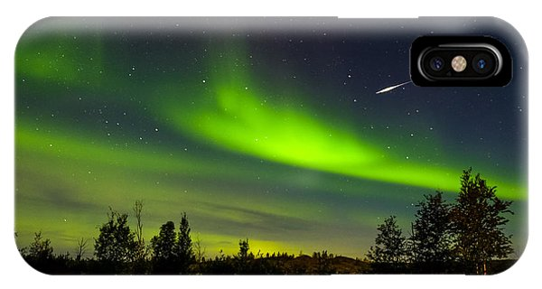 Aurora With Meteor  IPhone Case