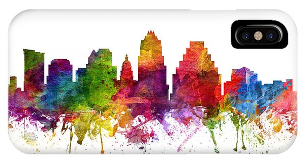 Austin Skyline iPhone Case - Austin Cityscape 06 by Aged Pixel