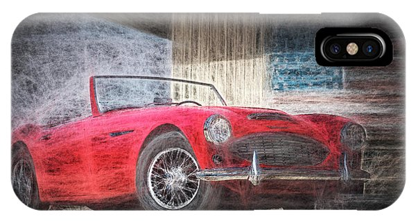 Austin Healey Chalk Study 4 IPhone Case