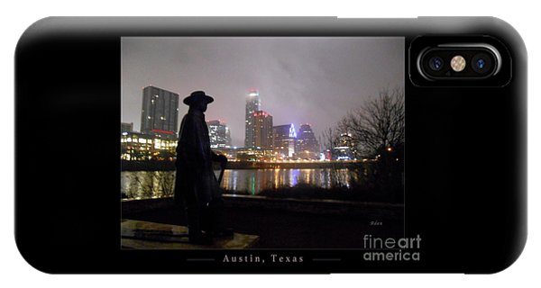 Austin Hike And Bike Trail - Iconic Austin Statue Stevie Ray Vaughn - One Greeting Card Poster IPhone Case