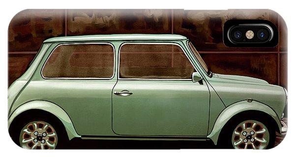 Oldtimer iPhone Case - Austin Mini Cooper Mixed Media by Paul Meijering