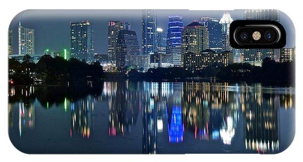 Austin Night Reflection IPhone Case