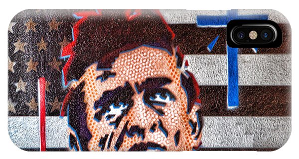 Austin Texas Johnny Cash Mural IPhone Case