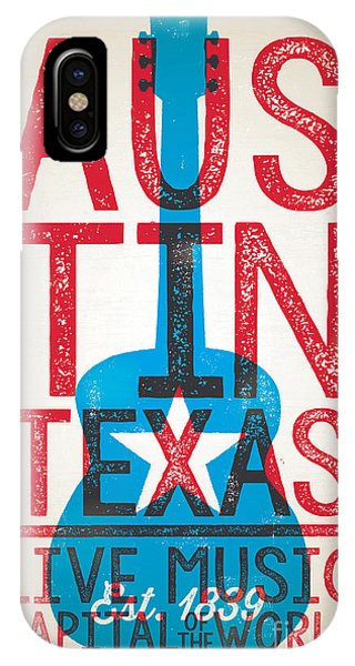 Concert iPhone Case - Austin Poster - Texas - Live Music by Jim Zahniser
