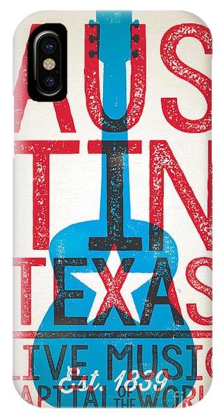 University iPhone Case - Austin Poster - Texas - Live Music by Jim Zahniser