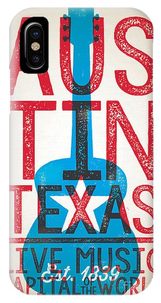 Johnny Cash iPhone Case - Austin Texas - Live Music by Jim Zahniser