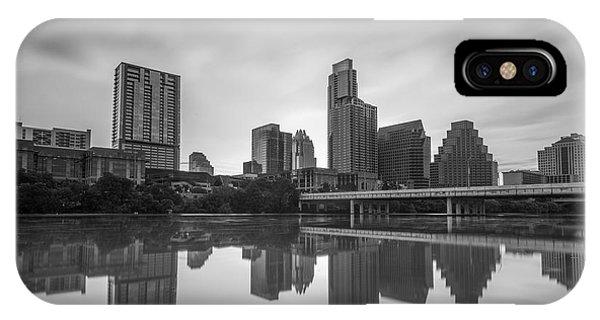Austin Texas Skyline Reflecting In Ladybird Lake Long Exposure IPhone Case