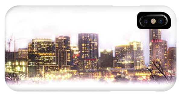 Austin Texas Skyline With White Blackground  IPhone Case