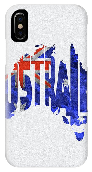 Australia Typographic World Map IPhone Case