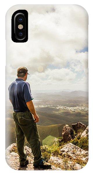 Australian Explorer Sightseeing Mt Zeehan IPhone Case