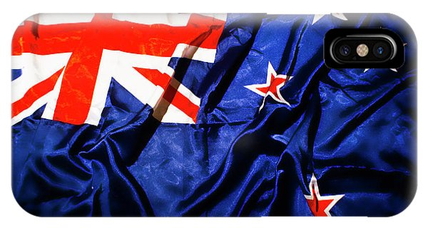 Patriotic iPhone Case - New Zealand Flag Art by Jorgo Photography - Wall Art Gallery