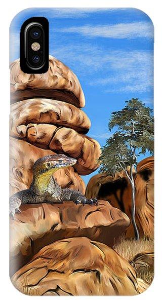 Samantha iPhone Case - Australian Goanna by Samantha Tro
