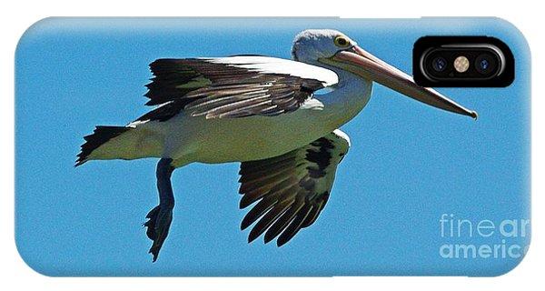 iPhone Case - Australian Pelican In Flight by Blair Stuart