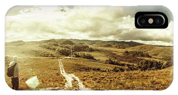 Hiking Path iPhone Case - Australian Rural Panoramic Landscape by Jorgo Photography - Wall Art Gallery