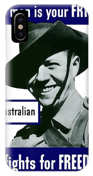 Army iPhone Case - Australian This Man Is Your Friend  by War Is Hell Store